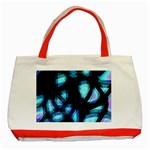 Blue light Classic Tote Bag (Red) Front