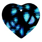 Blue light Heart Ornament (2 Sides) Back