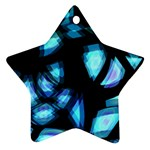 Blue light Star Ornament (Two Sides)  Front