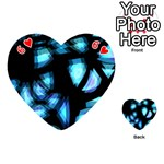 Blue light Playing Cards 54 (Heart)  Front - Heart6