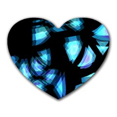 Blue light Heart Mousepads