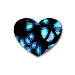 Blue light Heart Coaster (4 pack)