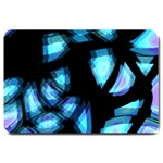 Blue light Large Doormat  30 x20 Door Mat - 1