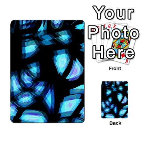 Blue light Multi-purpose Cards (Rectangle)