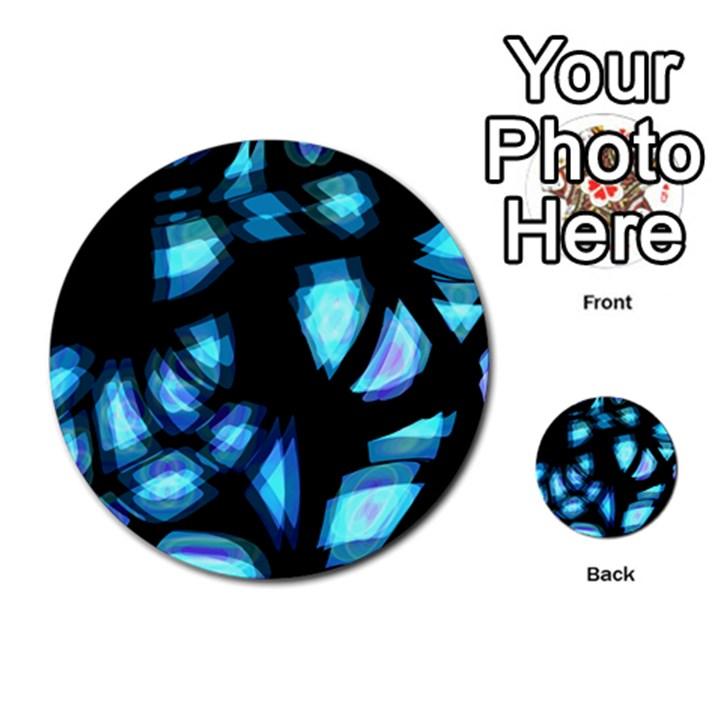 Blue light Multi-purpose Cards (Round)