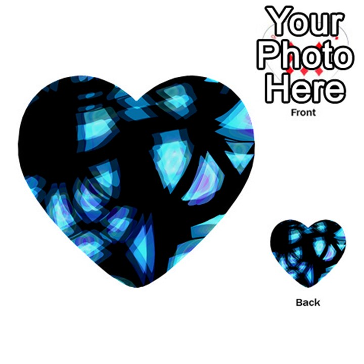 Blue light Multi-purpose Cards (Heart)