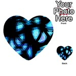 Blue light Multi-purpose Cards (Heart)  Front 44