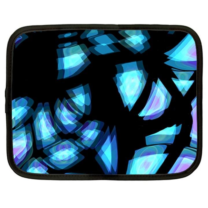 Blue light Netbook Case (Large)