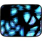 Blue light Double Sided Fleece Blanket (Mini)  35 x27 Blanket Back