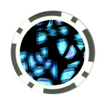 Blue light Poker Chip Card Guards (10 pack)  Front