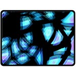 Blue light Fleece Blanket (Large)  80 x60 Blanket Front