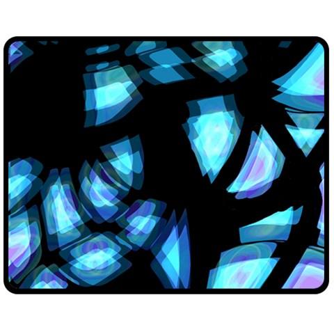Blue light Fleece Blanket (Medium)