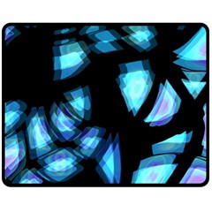 Blue light Fleece Blanket (Medium)