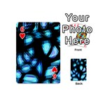Blue light Playing Cards 54 (Mini)  Front - Heart6