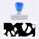 Blue light Rubber Stamps (Large) 2.26 x1.05  Stamp
