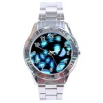 Blue light Stainless Steel Analogue Watch Front