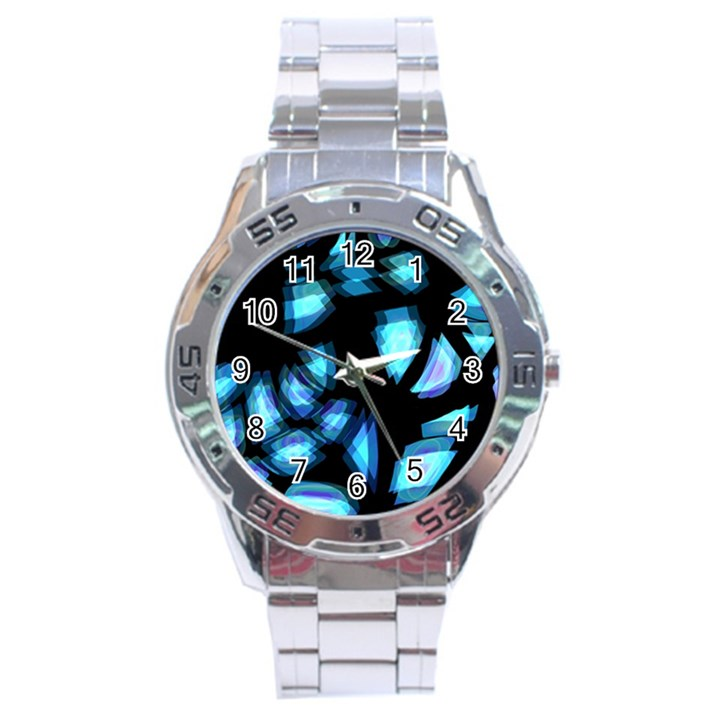 Blue light Stainless Steel Analogue Watch