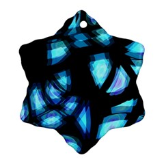 Blue Light Snowflake Ornament (2 Side)