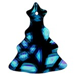 Blue light Christmas Tree Ornament (2 Sides) Back