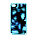 Blue light Apple iPhone 4 Case (Color) Front
