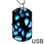 Blue light Dog Tag USB Flash (Two Sides)  Front