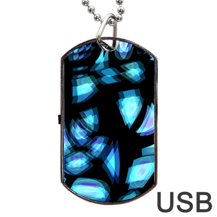 Blue light Dog Tag USB Flash (Two Sides)