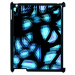 Blue light Apple iPad 2 Case (Black) Front