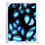 Blue light Apple iPad 2 Case (White) Front