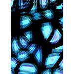 Blue light Heart 3D Greeting Card (7x5) Inside