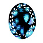 Blue light Oval Filigree Ornament (2-Side)  Back