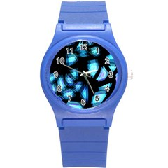 Blue light Round Plastic Sport Watch (S)