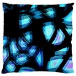 Blue light Large Cushion Case (Two Sides) Back