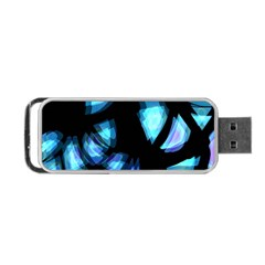 Blue light Portable USB Flash (Two Sides)