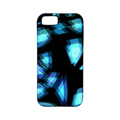 Blue Light Apple Iphone 5 Classic Hardshell Case (pc+silicone)