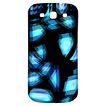 Blue light Samsung Galaxy S3 S III Classic Hardshell Back Case Front