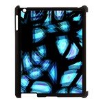 Blue light Apple iPad 3/4 Case (Black) Front