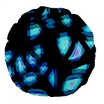 Blue light Large 18  Premium Round Cushions Back