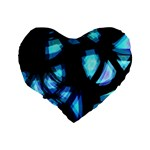 Blue light Standard 16  Premium Heart Shape Cushions Back
