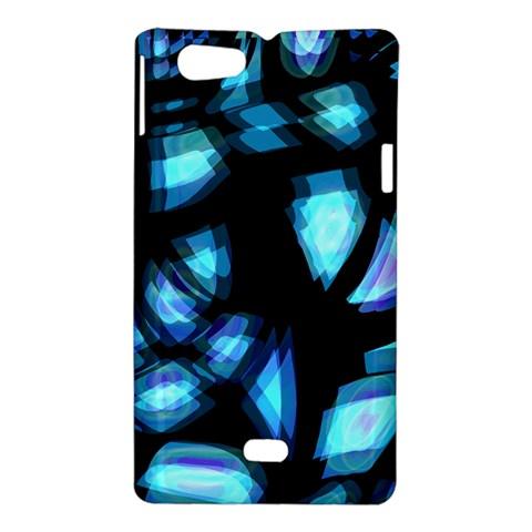 Blue light Sony Xperia Miro