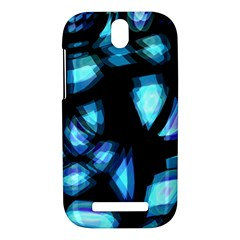 Blue light HTC One SV Hardshell Case