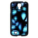 Blue light Samsung Galaxy S4 I9500/ I9505 Case (Black) Front