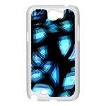 Blue light Samsung Galaxy Note 2 Case (White) Front
