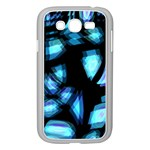 Blue light Samsung Galaxy Grand DUOS I9082 Case (White) Front