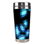 Blue light Stainless Steel Travel Tumblers Left