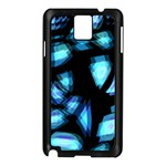 Blue light Samsung Galaxy Note 3 N9005 Case (Black) Front