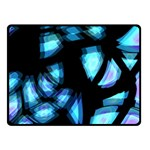 Blue light Double Sided Fleece Blanket (Small)  50 x40 Blanket Front