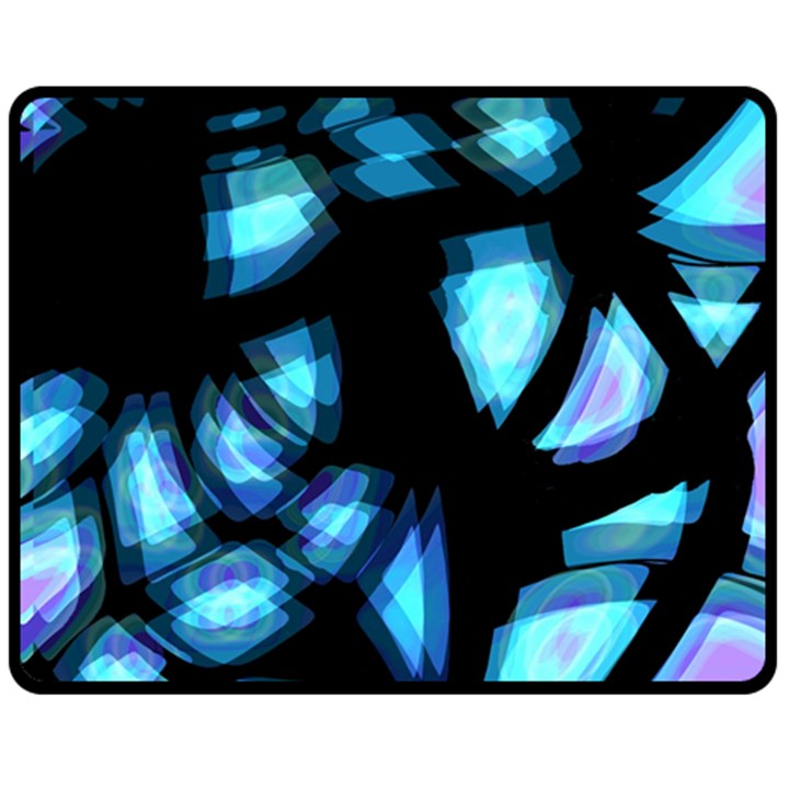 Blue light Double Sided Fleece Blanket (Medium)