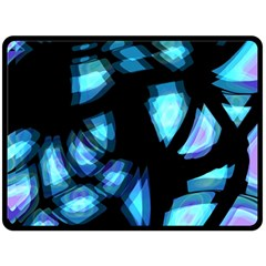 Blue light Double Sided Fleece Blanket (Large)