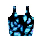 Blue light Full Print Recycle Bags (S)  Front