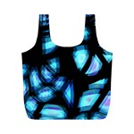 Blue light Full Print Recycle Bags (M)  Front